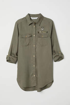 H&M Shirt with Appliques - Green