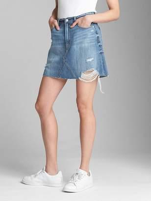 Gap Denim Mini Skirt with Destruction