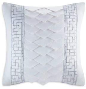 Natori White Orchid Decorative Pillow, 18 x 18