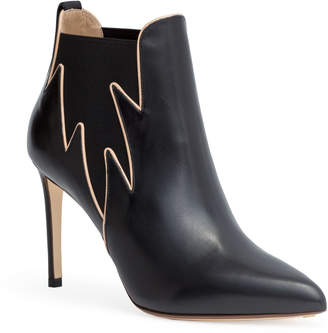 Francesco Russo Black 90 flame ankle boots