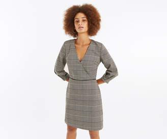 Oasis CHECK WRAP SHIFT DRESS