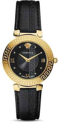 Versace Daphnis Greca Engraved Watch, 35mm
