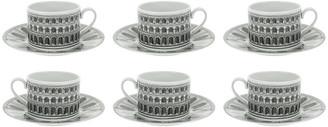 Fornasetti Architettura Tea Cups - Set of 6