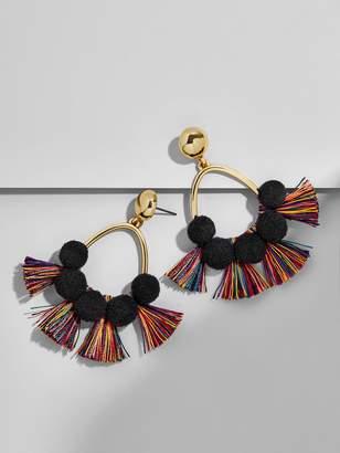 BaubleBar Melina Pom Pom Hoop Earrings