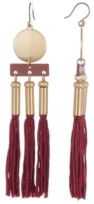 Lucky Brand Oversized Tassel Dangle Earrings