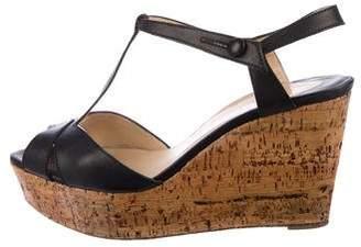 Christian Louboutin Platform Leather Sandals