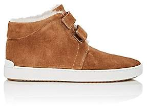 Rag & Bone Women's Kent Shearling-Lined Suede Sneakers-Camel