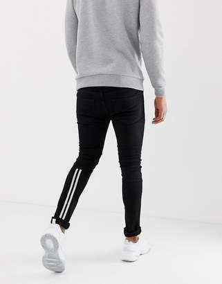 Religion low rise skinny fit jeans with taping