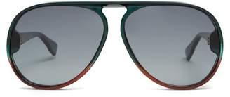 Christian Dior Diorlia Aviator Sunglasses - Womens - Green Multi