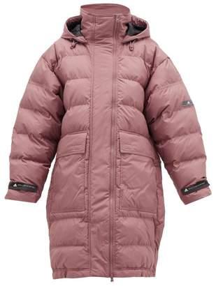 adidas by Stella McCartney Long Padded Hooded Jacket - Womens - Pink