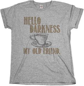 Old Friend Buzz Shirts Hello Darkness My Coffee Funny Mens & Ladies Unisex Fit T-Shirt