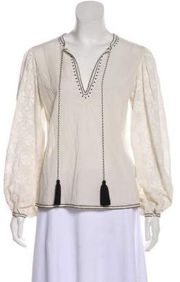 Talitha Embroidered Long Sleeve Top