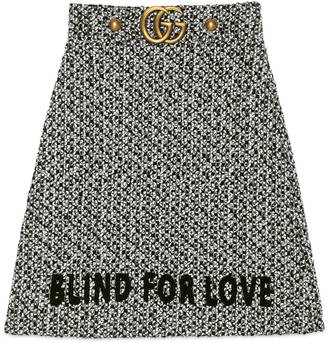 Embroidered tweed skirt $1,400 thestylecure.com