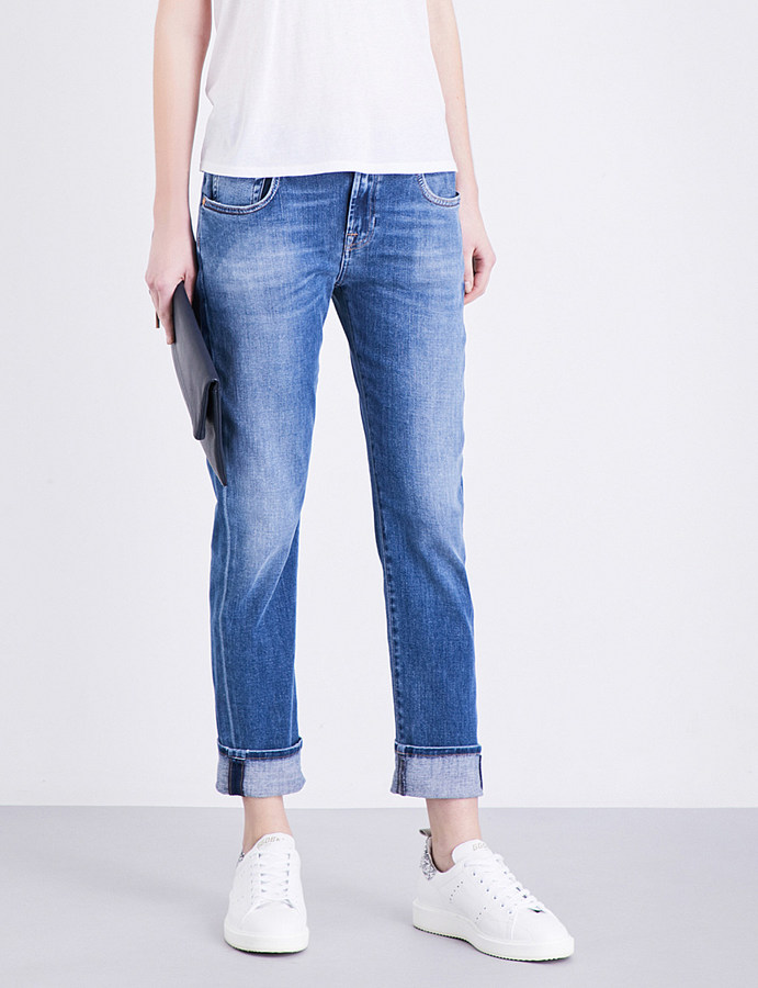 7 For All Mankind 7 For All Mankind Relaxed skinny mid-rise jeans