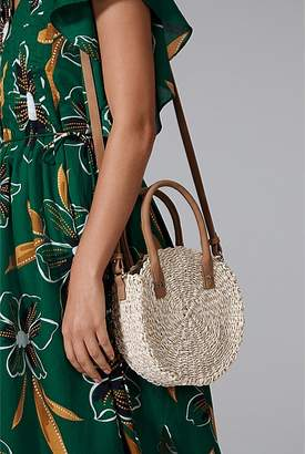 Country Road Round Mini Straw Crossbody