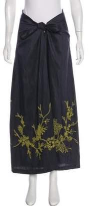 Megan Park Beaded Midi Skirt