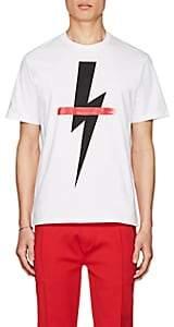 Neil Barrett Men's Graphic Cotton T-Shirt - White