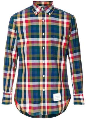 Thom Browne Buffalo Gingham Check Poplin Shirt