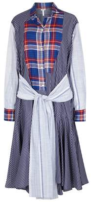 Loewe Contrast-striped Cotton Shirt Dress