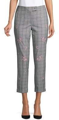 8e87c4cb1b9 Marella Floral Windowpane Cropped Pants