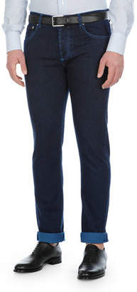 Isaia Saturated-Wash Slim-Leg Jeans