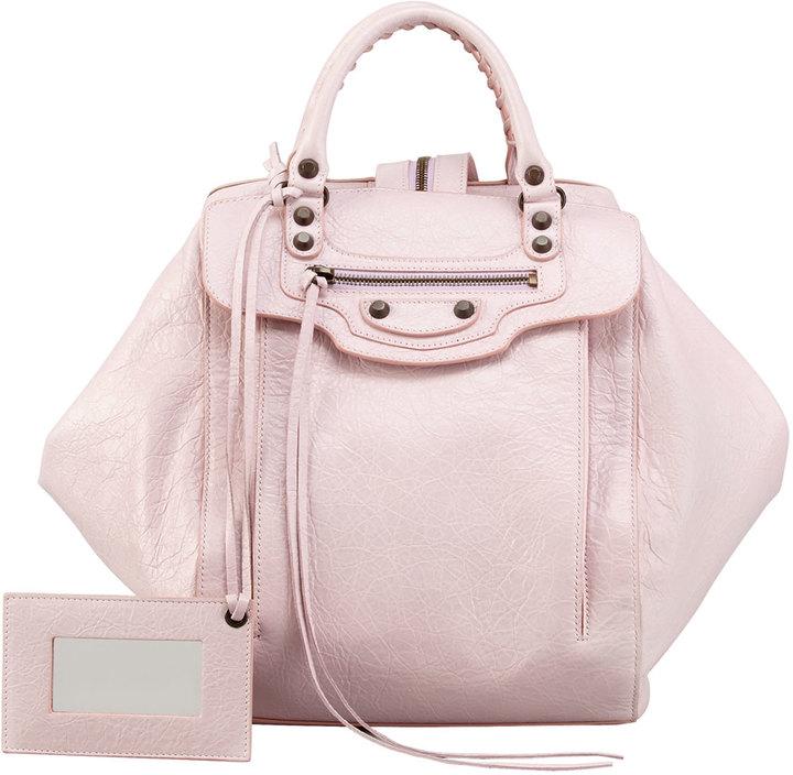 Balenciaga Classic Zip Traveler Backpack, Rose