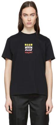 MSGM (エムエスジーエム) - MSGM ブラック msgm! T シャツ