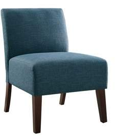 Poundex Bobkona Watonga Dorris Fabric Accent Chair in Blue.