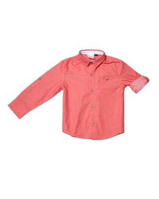 Fore Long-Sleeve Pin-Dot Collared Shirt, Size 2-8