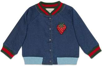 Gucci Kids Baby jersey denim bomber jacket