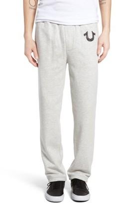 Men's True Religion Brand Jeans Open Leg Sweatpants $148 thestylecure.com