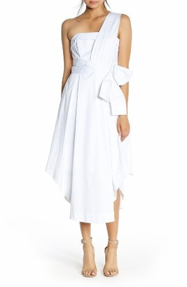 Women's Kendall + Kylie One-Shoulder Midi Dress $275 thestylecure.com