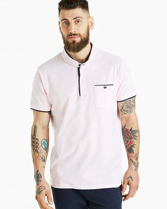 Jacamo Pink Grandad Polo Long