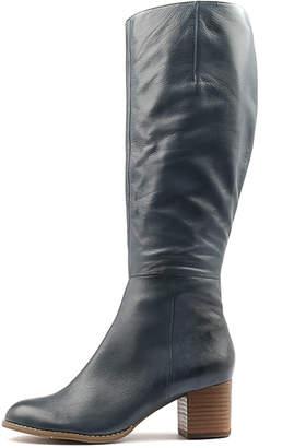 Django & Juliette Sled Navy Boots Womens Shoes Dress Long Boots