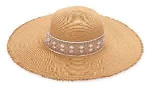 Collection 18 Nat Embellished Sun Hat