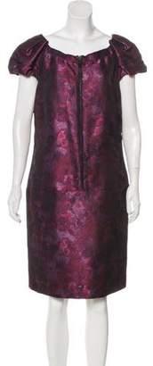 Burberry Jacquard Knee-Length Dress