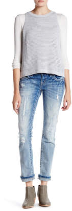 MISS ME Rhinestone Embroidered Straight Leg Jean $99.50 thestylecure.com
