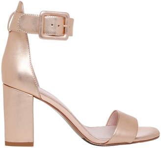 Basque Salsa Rose Gold Leather Sandal