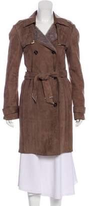 Gucci Shearling Trench Coat