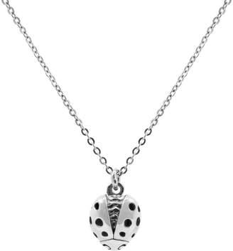 "Lee Renee Ladybird Necklace (Wings Open) "" Silver"