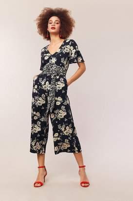 bce3193465 Next Womens Oasis Blue Botanical Patched Jumpsuit