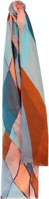Jaeger Diamond Mosaic Print Silk Scarf