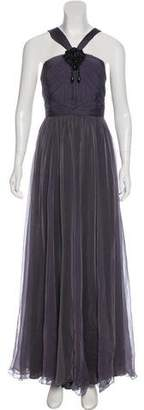 Andrew Gn Silk Crepe Gown