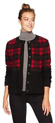 Pendleton Women's Boiled Wool Plaid Bomber Jacket