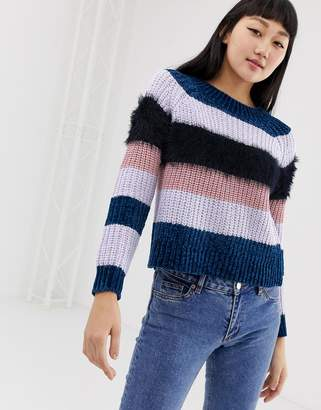 Only high neck multi knit sweater
