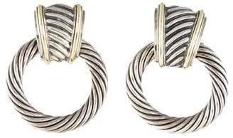 David Yurman Two-Tone Door Knocker Earrings