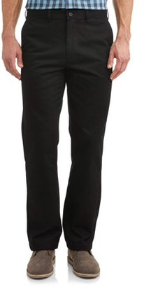 George Big Men's Flat Front Wrinkle Resistant Pant