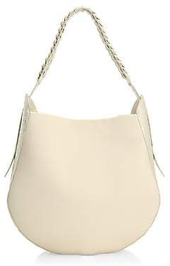 Nancy Gonzalez Women's Crocodile-Trimmed Leather Hobo Bag