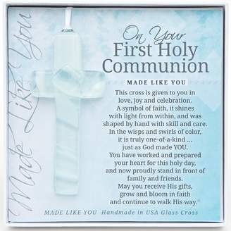 Grandparent Gift Co. The Handmade Glass Cross: First Communion Gift