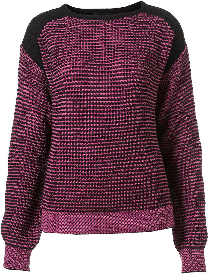 Knitted Contrast Stitch Jumper